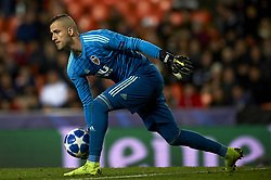 December 12, 2018 - Valencia, Spain - Jaume Domenech of Valencia does passed during the match between Valencia CF and Manchester United at Mestalla Stadium in Valencia, Spain on December 12, 2018. (Credit Image: © Jose Breton/NurPhoto via ZUMA Press)