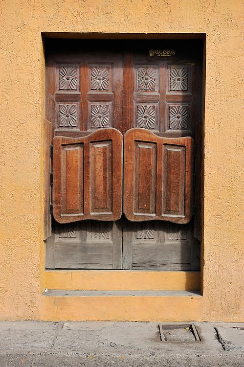 Door detail, Comayagua, Central America, Honduras.
