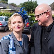 NLD/Blaricum/20130917 - Huwelijk Liz Snoyink en Nicolaas, Rene Soutendijk en partner Ted Lenssen