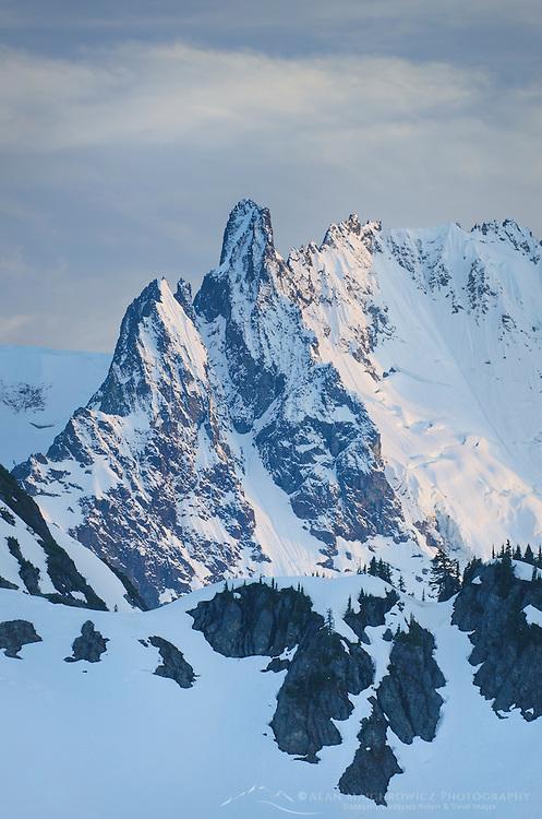 Nooksack Tower 8,285 feet (2,525 m), part of Mount Shuksan, North Cascades National Park Washington
