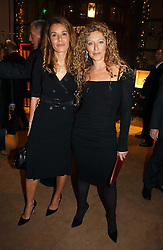 Left to right, TANA RAMSAY and KELLY HOPPEN at a Christmas party to celebrate the 225th Anniversary of Asprey held at their store 167 New Bond Street, London on 7th December 2006.<br />