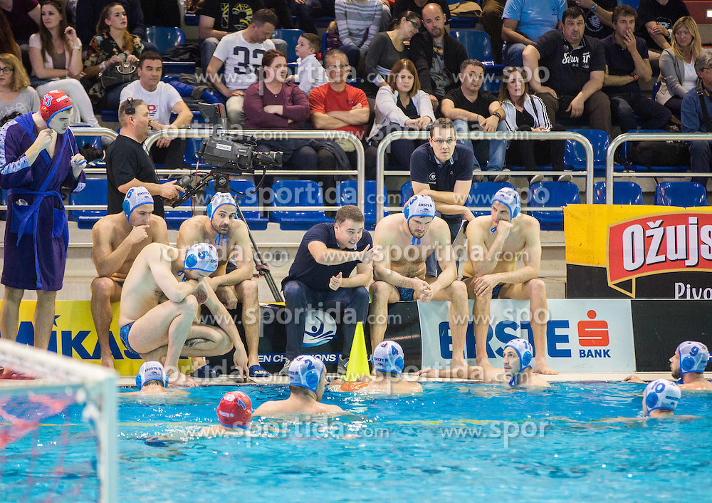 Ivan Asic, head coach of Primorje during water polo match between Primorje Erste Bank (CRO) and Olympiacos Piraeus (GRE) in 8th Round of Champions League 2016, on April 16, 2016 in Kantrida pool, Rijeka, Croatia. Photo by Vid Ponikvar / Sportida