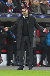 23.11.2011, BayArena, Leverkusen, Germany, UEFA CL, Gruppe E, Bayer 04 Leverkusen (GER) vs Chelsea FC (ENG), im Bild Robin Dutt (Trainer Leverkusen) entaeuscht/ entäuscht/ traurig // during the football match of UEFA Champions league, group E, between Bayer Leverkusen (GER) and FC Chelsea (ENG) at BayArena, Leverkusen, Germany on 2011/11/23.EXPA Pictures © 2011, PhotoCredit: EXPA/ nph/ Mueller..***** ATTENTION - OUT OF GER, CRO *****