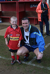 MANAGER CARL SHUTT KETTERING TOWN WITH MASCOT , Kettering Town v Kings Lynn Rockingham Road, 16th March 2002