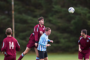 FC Boukir (blue and white) v Dryburgh CC (maroon) in the Dundee Saturday Morning Football League at University Grounds, Riverside, Dundee, <br /> <br />  - © David Young - www.davidyoungphoto.co.uk - email: davidyoungphoto@gmail.com