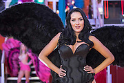 UNITED KINGDOM, London: 02 February 2016 A promotion girl performs at this years ICE Totally Gaming Convention held at the Excel Arena, East London. The three day event is the world's premier international expo for gaming and gambling professionals. Rick Findler / Story Picture Agency