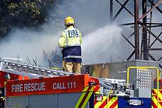 Wellington-Scrub fire at Basin Reserve