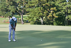 September 21, 2018 - Atlanta, Georgia, United States - Tiger Woods putts the 16th green during the second round of the 2018 TOUR Championship. (Credit Image: © Debby Wong/ZUMA Wire)