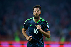 BELGRADE, SERBIA - Sunday, June 11, 2017: Wales' Joe Ledley during the 2018 FIFA World Cup Qualifying Group D match between Wales and Serbia at the Red Star Stadium. (Pic by David Rawcliffe/Propaganda)