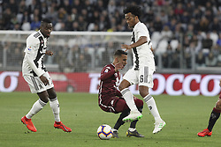 May 3, 2019 - Turin, Piedmont, Italy - Juan Cuadrado (Juventus FC) and Sasa Lukic (Torino FC)  during the Serie A football match between Juventus FC and Torino FC at Allianz Stadium on May 03, 2019 in Turin, Italy..Final results: 1-1. (Credit Image: © Massimiliano Ferraro/NurPhoto via ZUMA Press)