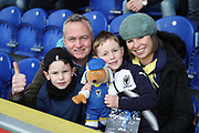 AFC Wimbledon fans during the EFL Sky Bet League 1 match between AFC Wimbledon and Oxford United at the Cherry Red Records Stadium, Kingston, England on 10 March 2018. Picture by Matthew Redman.