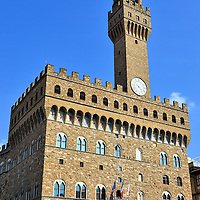 Palazzo Vecchio in Florence, Italy<br /> This site has historically been the epicenter of political power starting with the Romans in the first century. The dominant Uberti Family ruled here in the 13th century. After Palazzo Vecchio was finished in 1322, it was used by the Signoria government followed by the Medici dukes. During the 19th century, this was the capital of Italy. Architecturally, the fortress kept evolving and growing until about 1540. Today, it is a wonderful museum.