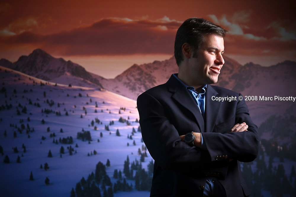 SHOT 10/28/08 9:22:47 AM - Vail Resorts CEO/Director Rob Katz, 41, was appointed a director in June 1996, serving as Lead Director from June 2003 until his appointment as Chief Executive Officer of the Company in February 2006. Prior to his appointment as the Company's Chief Executive Officer, Mr. Katz was associated with Apollo Management L.P. He was photographed at Vail Resorts headquarters in Broomfield, Co..(Photo by Marc Piscotty / © 2008)
