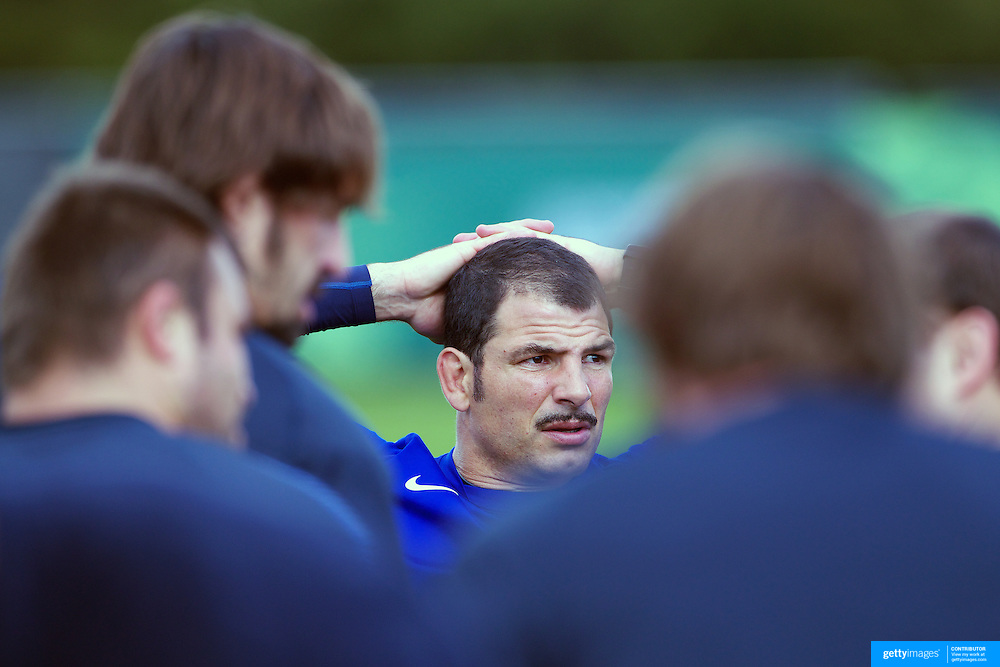 French Coach Marc Lievremont during the teams training session at  Onewa Domain, Auckland in preparation for the Rugby World Cup Final against New Zealand at the IRB Rugby World Cup tournament, Auckland, New Zealand, 19th October 2011. Photo Tim Clayton...
