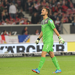 25.10.2013, Mercedes Benz Arena, Stuttgart, GEr, 1. FBL, VfB Stuttgart vs 1.FC Nuernberg, Fussball, 1.Bundesliga, 25.10.2013, 10. Runde, im Bild Sven Ulreich ( VfB Stuttgart ) Veraergert,Emotion // during the German Bundesliga 10th round match between VfB Stuttgart and 1. FC Nuernberg at the Mercedes Benz Arena in Stuttgart, Germany on 2013/10/26. EXPA Pictures © 2013, PhotoCredit: EXPA/ Eibner-Pressefoto/ Langer<br /> <br /> *****ATTENTION - OUT of GER*****