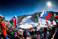 Supporters during 9th Men's Giant Slalom race of FIS Alpine Ski World Cup 55th Vitranc Cup 2016, on March 4, 2016 in Kranjska Gora, Slovenia. Photo by Vid Ponikvar / Sportida