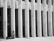 Woman Reading in Lincoln Center