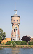 Tower on riverbank River Oude Maas, Maaspad, Zwijndrecht, Dordrecht, Netherlands