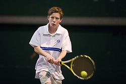 OSLO, NORWAY - Saturday, December 19, 2009: Audun Flatebakken during the Northern Vision Tennis Academy at the Riksanlegget. (Pic by David Rawcliffe/Propaganda)