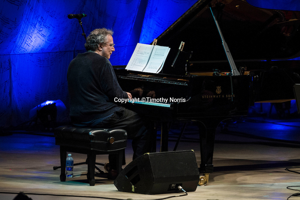 Pianist Uri Caine performs the music of George Gershwin, reimagined and improvised at the 68th Ojai Music Festival at Libbey Park on June 13, 2014 in Ojai, California.