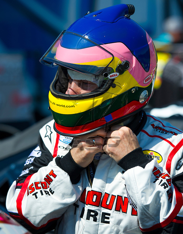 Elkhart Lake, WI - JUN 23, 2012: Jacques Villeneuve (22) during qualifying for the Sargento 200  race at Road of America in Elkhart Lake , WI.