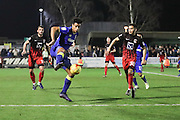 AFC Wimbledon striker Lyle Taylor (33) controls the ball during the EFL Sky Bet League 1 match between AFC Wimbledon and Coventry City at the Cherry Red Records Stadium, Kingston, England on 14 February 2017. Photo by Stuart Butcher.