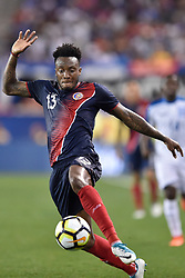 July 7, 2017 - Harrison, New Jersey, U.S - Costa Rica midfielder RODNEY WALLACE (13) controls a bouncing ball during CONCACAF Gold Cup 2017 action at Red Bull Arena in Harrison New Jersey Costa Rica defeats Honduras 1 to 0. (Credit Image: © Brooks Von Arx via ZUMA Wire)