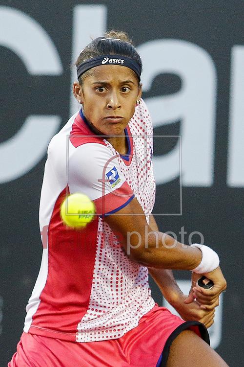 Teliana Pereira(BRA) contra Patrícia Mayr-Achleitner(AUT) participa da segunda rodada do circuito WTA no Rio de Janeiro, nas instalações do Jóquei, na bairro da Gávea, zona sul da cidade.