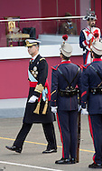 Madrid, 12-10-2015<br /> <br /> National Day Spian. King Felipe, Queen Letzia and their daughter Princess Leonor and Princess Sofia attend the Militairy Parade.<br /> <br /> <br /> Photo: Royalportraits Europe/Bernard Ruebsamen