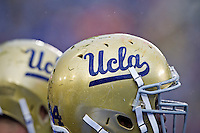 17 October 2012: The UCLA Bruins play in the rain against the USC Trojans during UCLA's 38-28 victory over USC at the Rose Bowl in Pasadena, CA.