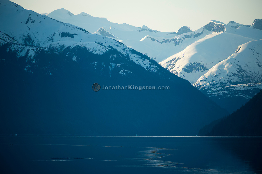 Endicott Arm, a fjord leading to the Dawes Glacier, Alaska.
