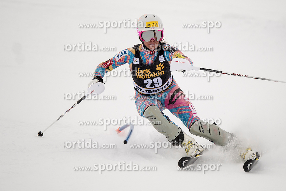 07.12.2012, Engiadina Rennstrecke, St. Moritz, SUI, FIS Ski Alpin Weltcup, Super Combination, Damen, Slalom, im Bild Julia Mancuso in action // during Slalom of ladies Super Combined of FIS ski alpine world cup at the Engiadina course, St. Moritz, Switzerland on 2012/12/07. EXPA Pictures © 2012, PhotoCredit: EXPA/ Newspix/ Dawid Markysz..***** ATTENTION - for AUT, SLO, CRO, SRB, BIH, TUR, SUI and SWE only *****