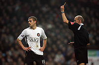 Photo: Rich Eaton.<br /> <br /> Aston Villa v Manchester United. The Barclays Premiership. 23/12/2006. Nemanja Vidic of Man United gets a yellow card early in the first  half