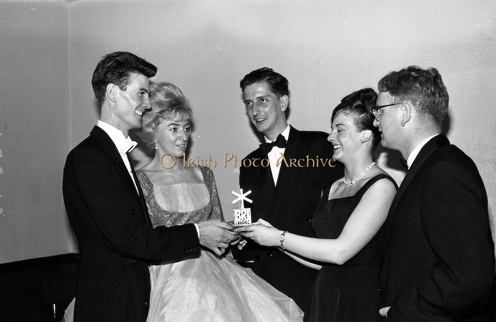 Eire Amateur Ballroom Dancing Championship was held last night at the Metropole Ballroom, Dublin.  Novice winners are awarded the Bri-Nylon Trophy.<br /> 06.10.1964