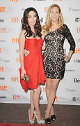 16.SEPTEMBER.2011. TORONTO<br /> <br /> MEGAN FOX AND JENNIFER WESTFELDT ATTEND THE PRIEMIERE OF 'FRIENDS WITH KIDS' AT THE RYERSON THEATRE, DURING THE 2011 TORONTO INTERNATIONAL FILM FESTIVAL, IN CANADA.<br /> <br /> BYLINE: EDBIMAGEARCHIVE.COM<br /> <br /> *THIS IMAGE IS STRICTLY FOR UK NEWSPAPERS AND MAGAZINES ONLY*<br /> *FOR WORLD WIDE SALES AND WEB USE PLEASE CONTACT EDBIMAGEARCHIVE - 0208 954 5968*