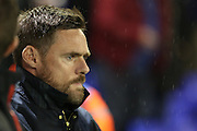 Scunthorpe United Manager Graham Alexander before the EFL Sky Bet League 1 match between Oldham Athletic and Scunthorpe United at Boundary Park, Oldham, England on 18 October 2016. Photo by Simon Brady.
