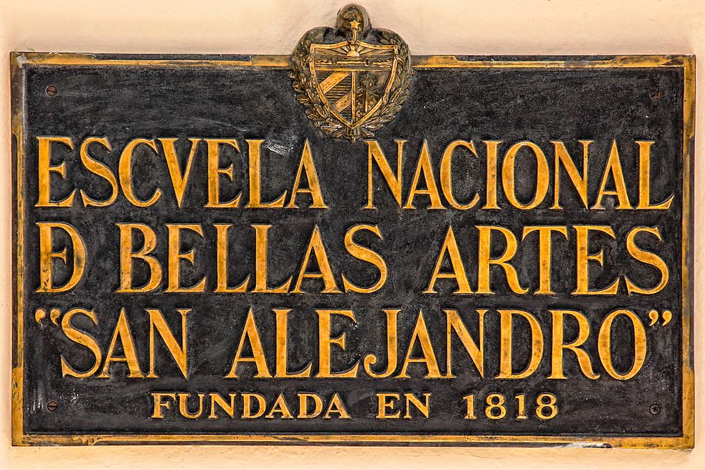 San Alejandro Art School in Marianao, Havana, Cuba.