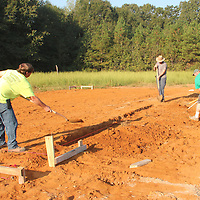 (Floyd Ingram / Buy at photos.chickasawjournal.com)<br /> A workcrew of volunteers dig the footing for Houston Habitat for Humanity's next house under construction north of town. Habitat is seeking volunteers and churches to join them and help with a variety of projects.