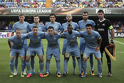 September 14, 2017 - Villarreal, Spain - FC Astana lines ups  during the UEFA Europa League Group A football match between Villarreal CF vs FC Astana  at La Ceramica stadium in Villarreal  on September 14, 2017. (Credit Image: © Jose Miguel Fernandez/NurPhoto via ZUMA Press)