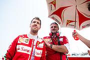 July 21-24, 2016 - Hungarian GP, Sebastian Vettel (GER), Ferrari, Maurizio Arrivabene, team principal of Scuderia Ferrari