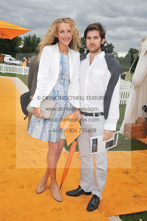JACK & KATE FREUD at the 2012 Veuve Clicquot Gold Cup Final at Cowdray Park, Midhurst, West Sussex on 15th July 2012.