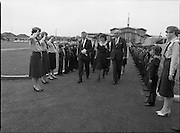 Ballymun Scout Hall.1982.28.07.1982.07.28.1982.28th July 1982.The Minister for Justice Mr Sean Doherty officially opens the new scout hall in Ballymun,Albert College Drive, Dublin 9.. The Minister passes through a guard of honour provided by the 101st unit C.B.S.I. Ballymun