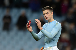 Jack Grealish of Aston Villa applauds the Villa fans after the game - Mandatory by-line: Dougie Allward/JMP - 15/10/2016 - FOOTBALL - Villa Park - Birmingham, England - Aston Villa v Wolverhampton Wanderers - Sky Bet Championship