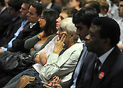 CENTRAL LONDON Members of the audience. David Miliband makes a Labour leadership campaign speech at at The King Solomon Academy in London. The Labour leadership campaign is entering its final week with voting papers going out to Labour members.  25 August 2010. STEPHEN SIMPSON..