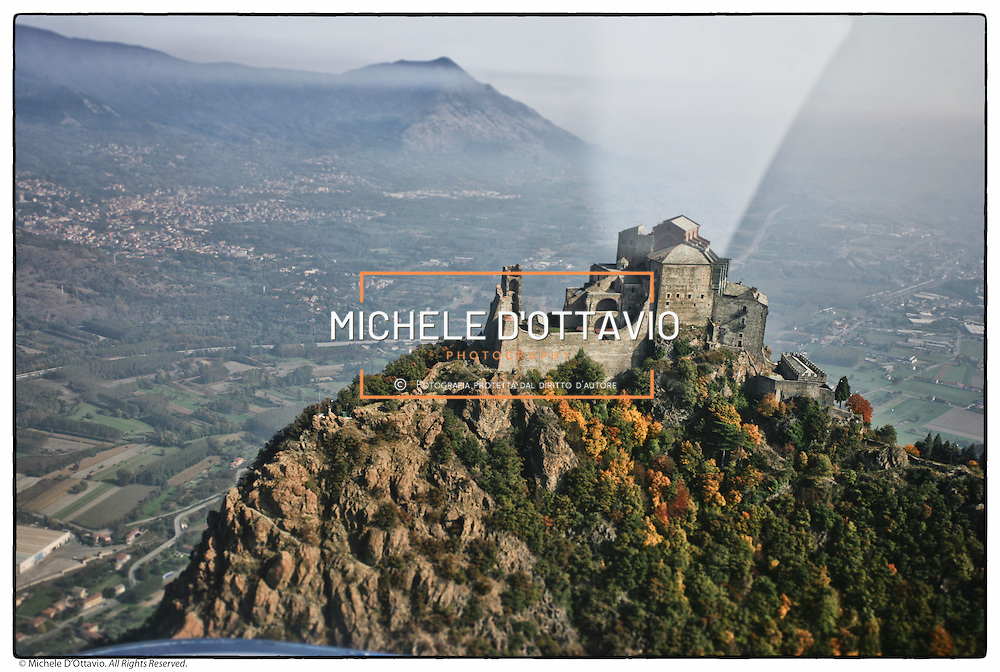 Aerial view of the Sacra di San Michele