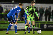 Forest Green Rovers Liam Kitching(20) on the ball during the EFL Sky Bet League 2 match between Forest Green Rovers and Carlisle United at the New Lawn, Forest Green, United Kingdom on 28 January 2020.