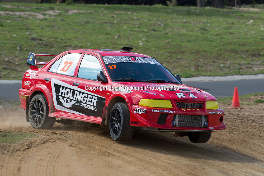 Will Orders - Mitsubishi Lancer Evolution - Rallycross Australia - Rnd 1 - February 26th 2017. MARULAN DIRT & TAR CIRCUITS, MARULAN, NSW