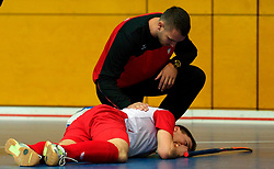 LEIZPIG - WC HOCKEY INDOOR 2015<br /> NED v POL (Pool B)<br /> Foto:Injury for Poland<br /> FFU PRESS AGENCY COPYRIGHT FRANK UIJLENBROEK