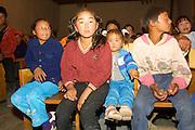 GOBI DESERT, MONGOLIA..08/26/2001.Bayangovi. Show program before start of discotheque..(Photo by Heimo Aga).