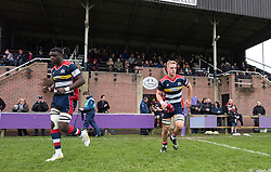 Ehize Ehizode and James Dun of Bristol United run on to the pitch - Mandatory by-line: Paul Knight/JMP - 18/11/2017 - RUGBY - Clifton RFC - Bristol, England - Bristol United v Gloucester United - Aviva A League